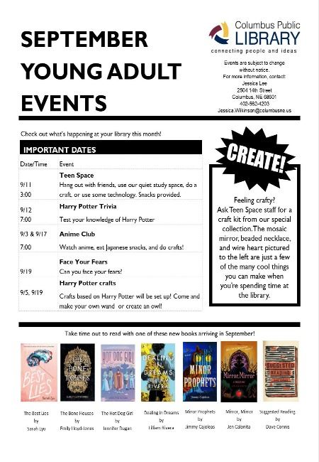 September Teen Events